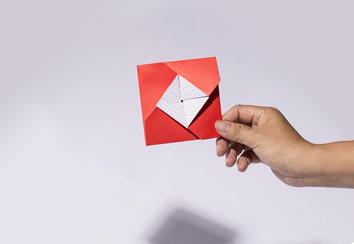 Post Card Techcombank designed by Bratus #post #vietnam #red #business #card #print #design #graphic #origami #techcombank