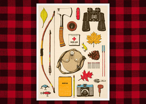 Camping_supplies_MED #illustration #camping #objects