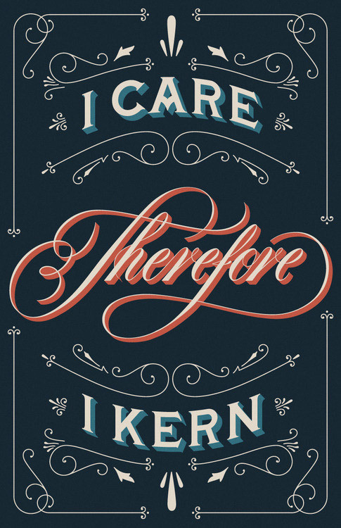 View the typography poster design #type #kern