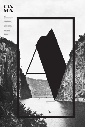 1--9 #cliffes #print #design #graphic #river #typography