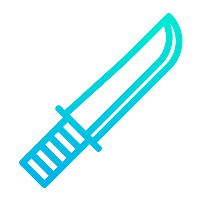 See more icon inspiration related to knife, dirk, exploration, miscellaneous, blade, weapon, tool and cut on Flaticon.