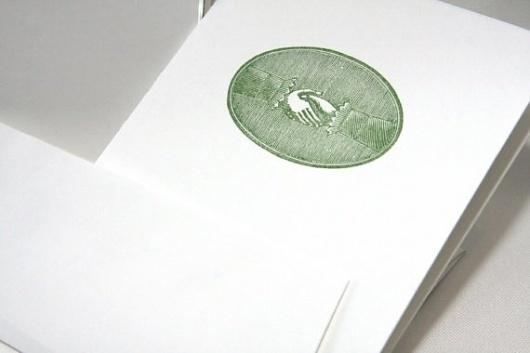 The Handshake letterpress card by CabbageCreative on Etsy #cabbage #handshake #letterpress #creative