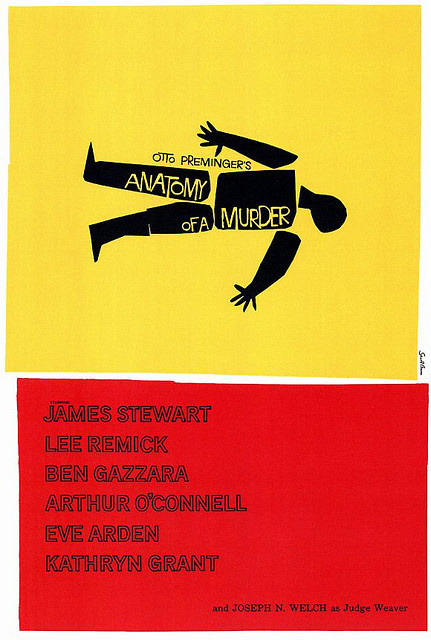 Anatomy of a Murder by Saul Bass #bass #movie #title #a #saul #design #of #anatomy #murder