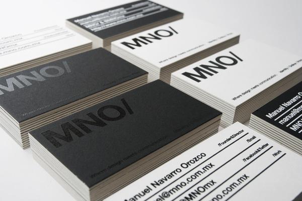 MNO/ Branding #serigraph #business #card #mexico #mno