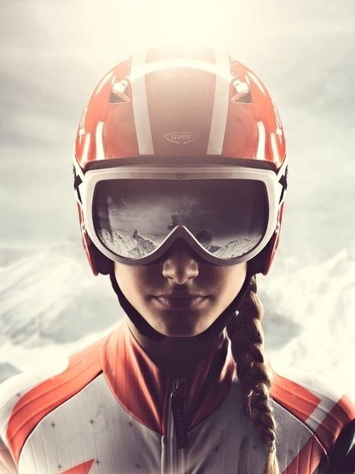 by Marcus Eriksson #photography #mountains #woman #ski
