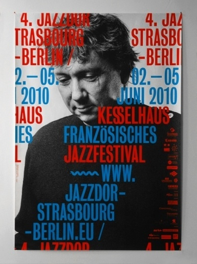 - jazzdor 10 : HELMO #block #foil #poster #typography