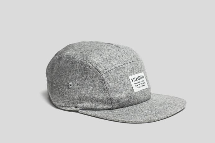 Steadbrook Wool 5 Panel / Light Grey | Steadbrook #panel #design #five #hat #wool