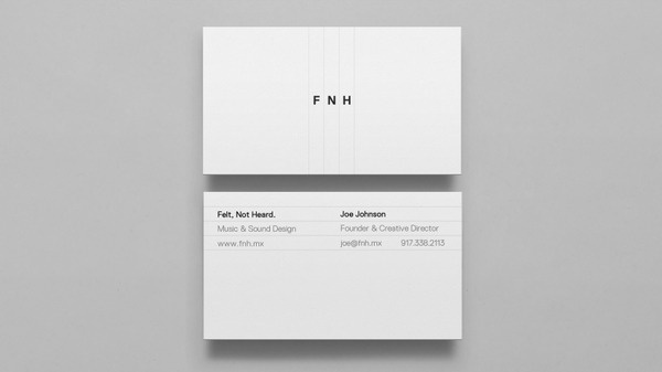 Felt, Not Heard | DIA #card #print #business #stationery