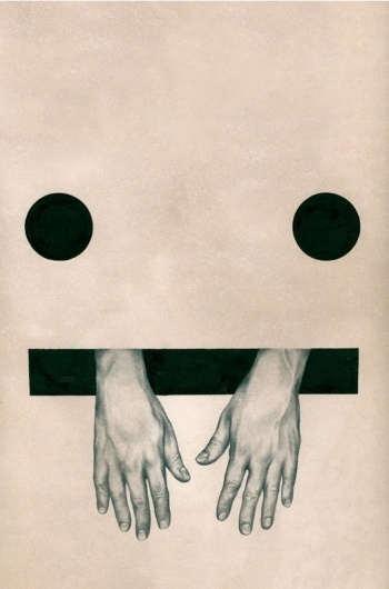 All sizes | Cannibalism – Mario Hugo | Flickr - Photo Sharing! #mario #cannibalism #cardboard #eyes #smiley #hands #hugo #drawing