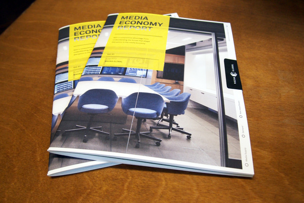 MagSpreads Magazine Design and Editorial Inspiration: IPG Media Economy Report #magazine