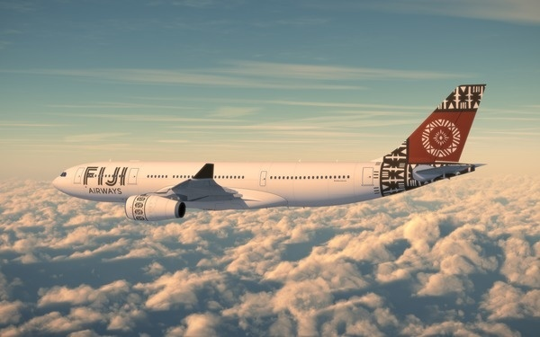 Unique partnerships create a new brand and new experience for 'Fiji Airways'. #branding #futurebrand #fiji #airline #livery #plane