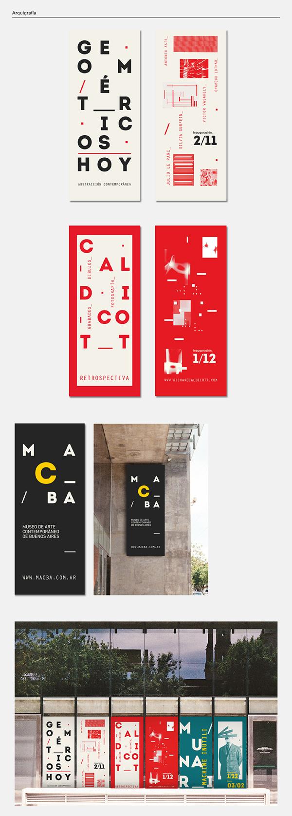 MACBA on Behance #typography #modern #museum