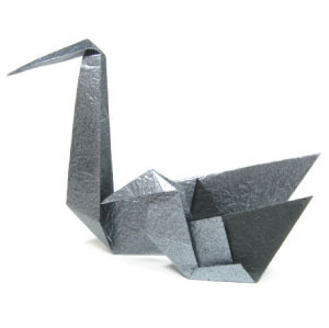 How to make a traditional origami baby swan (cygnet) (http://www.origami-make.org/howto-origami-swan.php)