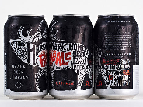 Ozark American Pale Ale Cans #packaging #beer