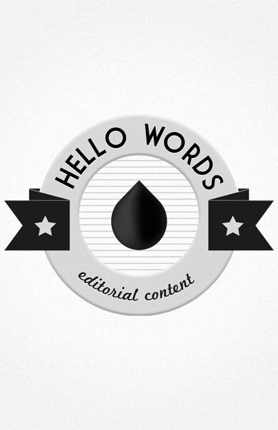 Hello Words #logotype #design #graphic #monochrom #hello #logo