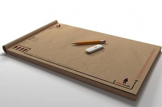 Woodcraft on Branding Served #eraser #pencil #identity #sketchbook
