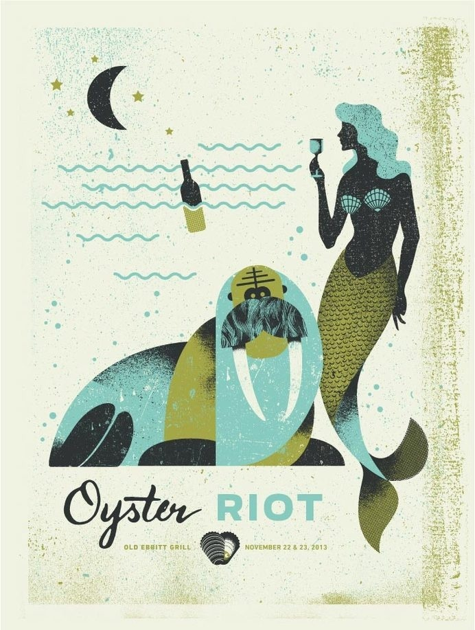 Oyster Riot | Two Arms Inc. #illustration #poster