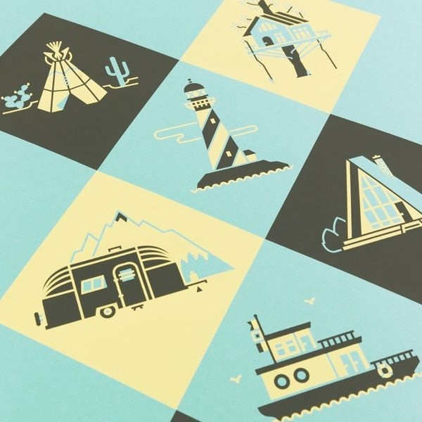 Home Sweet Home #vector #always #lighthouse #camp #illustration #honor #boat #with