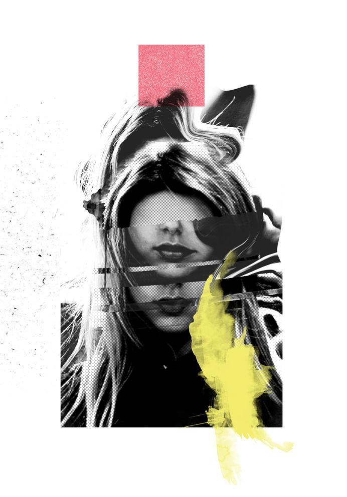 LVRS // INIT - Rosco Flevo #design #graphic #artscumantics #faces #postartfuckery #mixed #media #muse #collage #female #fashion