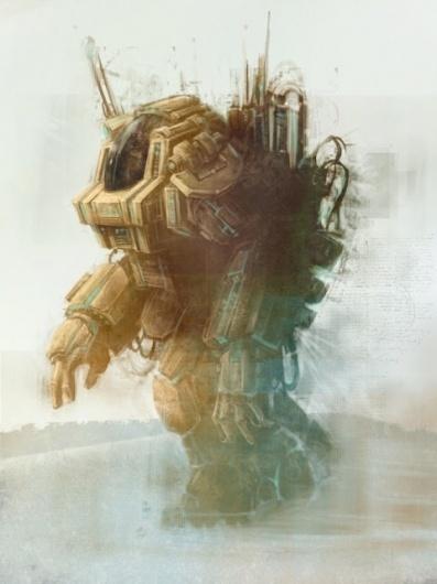 Gibbs Rainock: MoonMech Update 4 #illustration #mecha #moon #robot