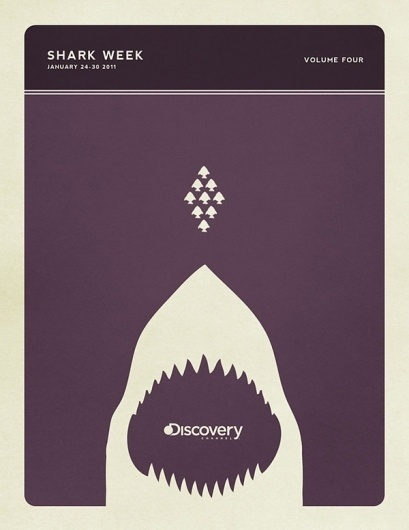 Minimal Poster Design - Shark Week on the Behance Network #colros #retro #sharks #posters #vintage