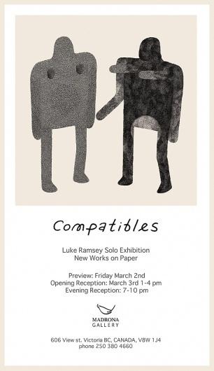 Compatibles Solo Exhibition   Luke Ramsey #illustration