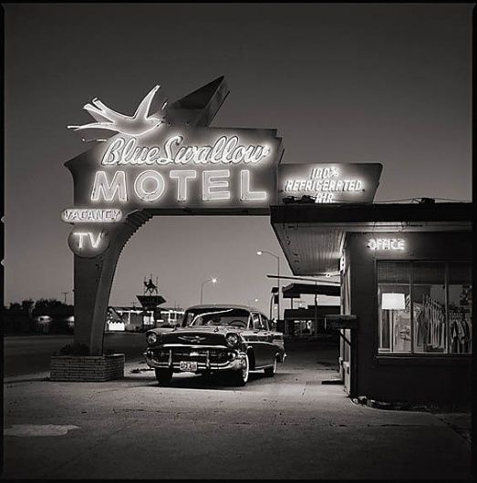 Beautiful/Decay Artist & Design #white #retro #black #photography #vintage #and #motel #car