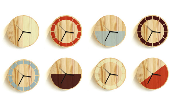 primary clock — david weatherhead #wood #clock #minimal #product