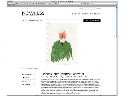 Frieze Art Fair for Nowness : damienflorebertcuypers.com #digital #illustration #portraits