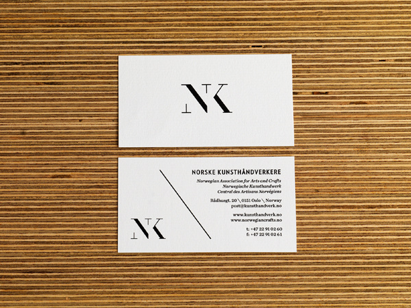 NK · Norske Kunsthåndverkere on Branding Served #logotype #card #identity #business