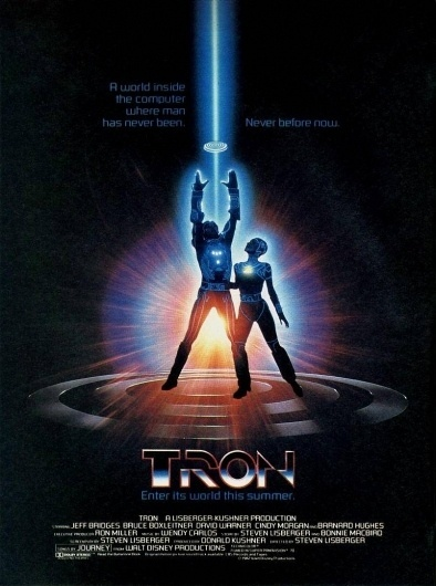 tron-poster.jpg (image) #movie #tron #design #retro #scifi #poster #80s