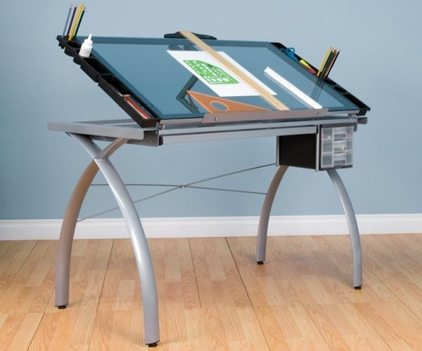 With a sleek look and ample storage, drawing desk that invites you to work! #product #furniture #design #industrial