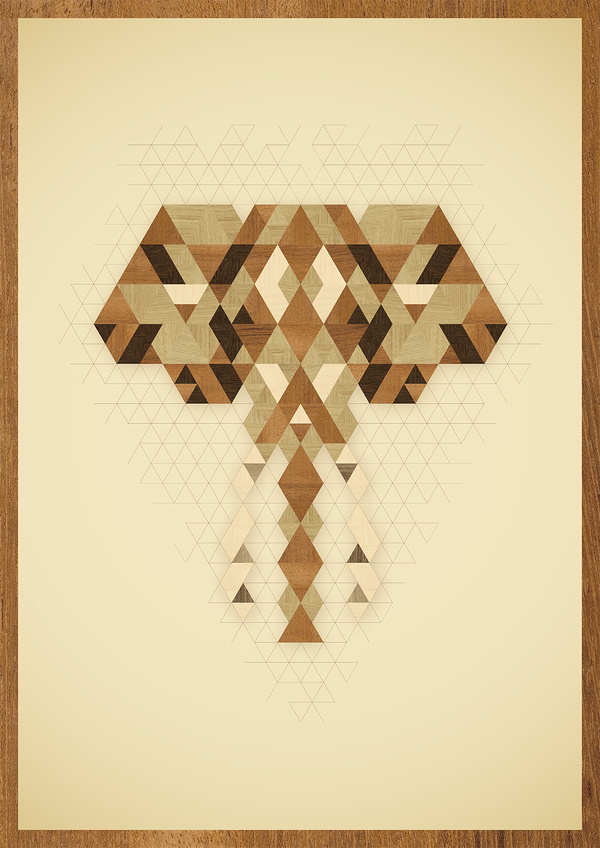 An Elephant #wood #illustration #poster #elephant