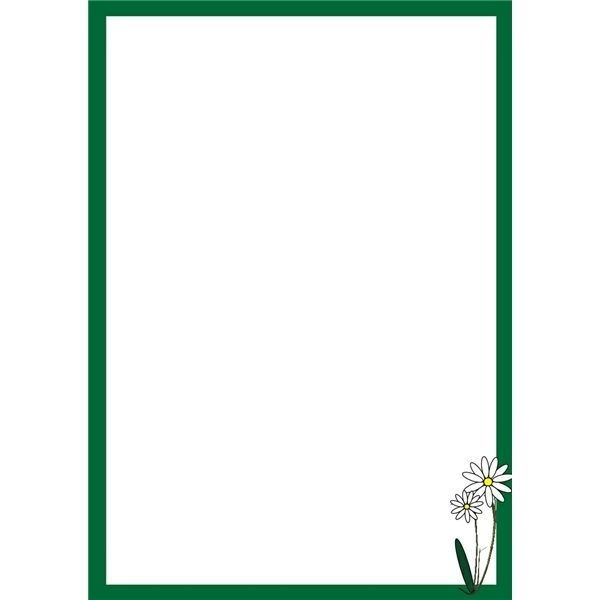 Green Page borders for word document in Border Designs – Border Template for Word