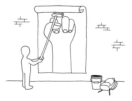 About Art & Design by D. Kim #paste #graffiti #illustration #drawn #hand #wheat