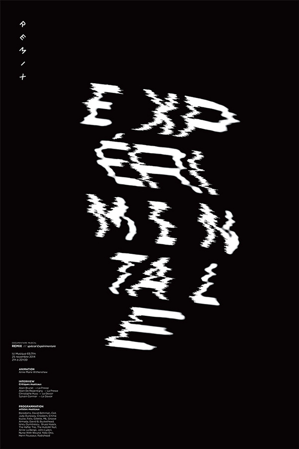 #experimental #remix #poster #typography
