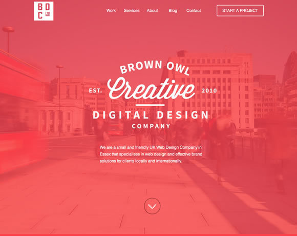 13 Beautiful Examples of Colorful Websites #creative #red #owl #design #digital #brown #layout #web #typography