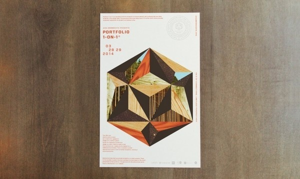 AIGA Portfolio 1-on-1 by Studio MPLS #design #shapes #wood #nature #poster
