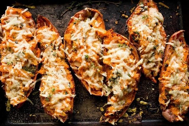 Twice Baked Sweet Potatoes #twice #potatoes #baked #sweet