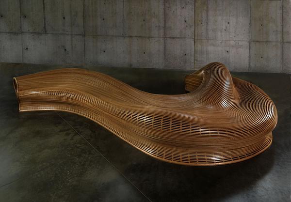 Green Amada Bench Contemporary #interior #design #decor #home #furniture #architecture