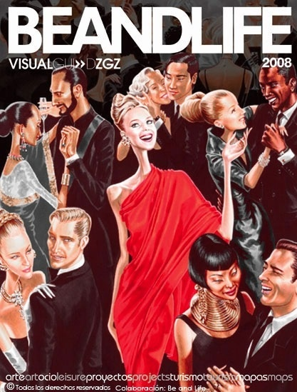 beandlife 2008 #red #cover #illustration #fashion #elena #magazine #arturo