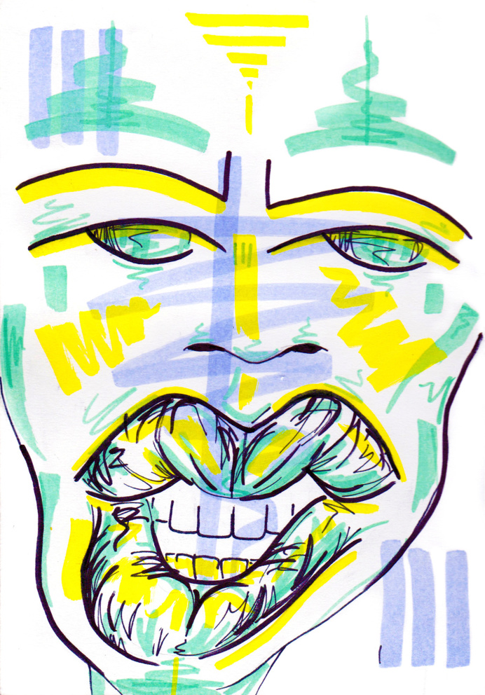#21 / consequence of jealousy / 180414 by Chiamaka Ojechi #illustration #pastel #lips #markers #minimal