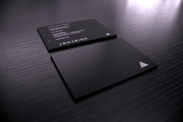 Armarion #uv #business #card #print #screenprint #black #paper #cards #luxury