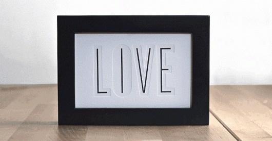 Dribbble - livelove_1-1.gif by 55 Hi's #live #print #design #letterpress #love #typography