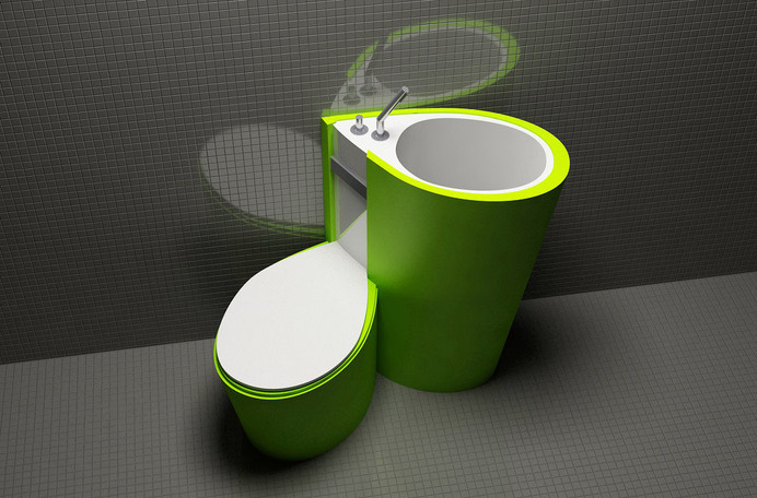 Za Bor Architects proposes an optimal combination of the toilet and sink - www.homeworlddesign. com (3) #ideas #furniture #bathroom