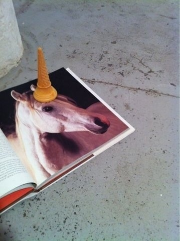 FFFFOUND! | All This Shit Is Old™. #waffel #horse #unicorn