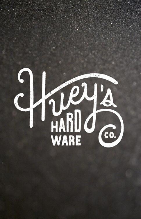 Huey's Hardware #logo #script