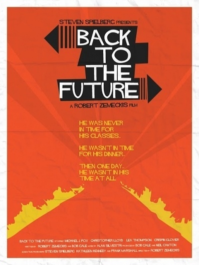 dave will design - a freelance graphic designer based in Liverpool: Back to the Future Vintage Poster #design #graphic #the #back #future #to