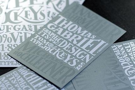 Typejockeys - TJ Business Cards #lettering #business #card #hand #typejockeys