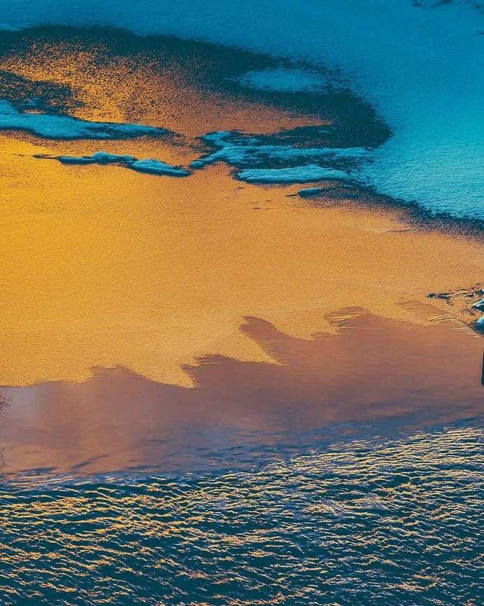 Surface. #ice #sweden #sun #winter